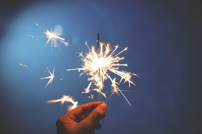 A sparkler